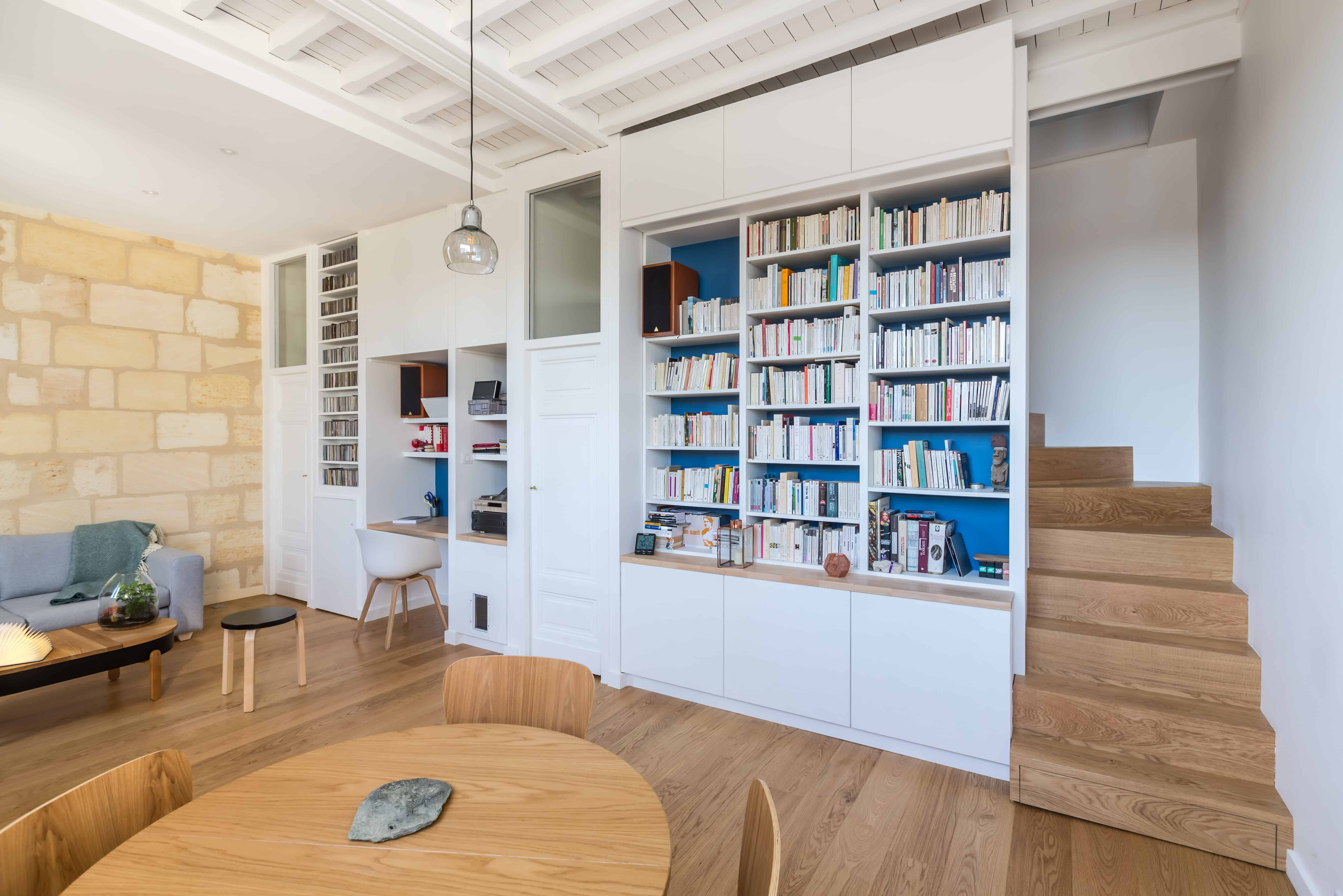 Architecte Interieur Bordeaux restructuration d'un duplex de 70m2 à bordeaux quartier